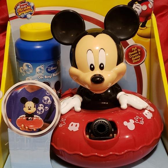 NWOT Mickey Bubble Machine